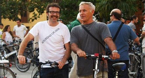 Joan Ribó con su asesor Giusseppe Grezzi/Compromís