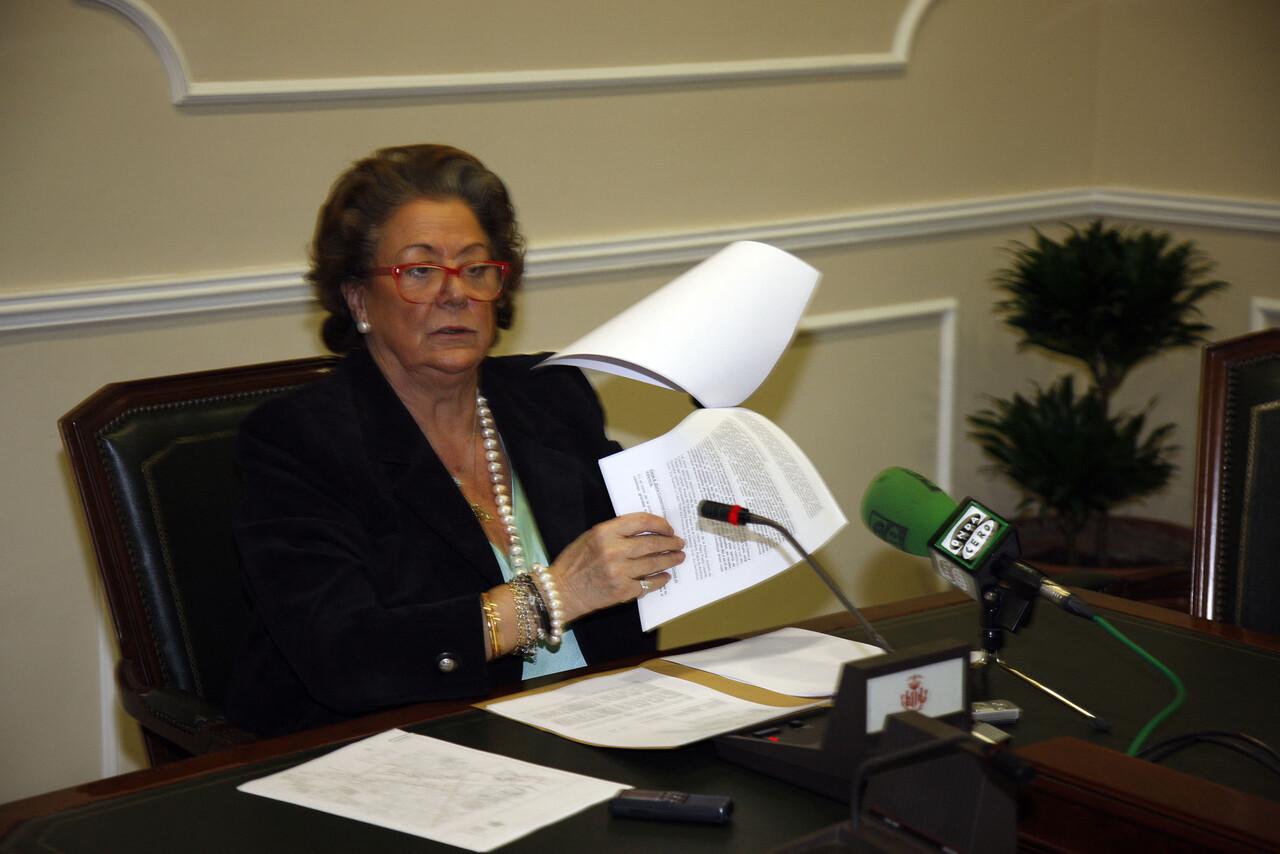 La alcaldesa en la rueda de prensa de hoy después de la junta de gobierno/ayto vlc