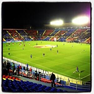 Vista del Ciutat de Valencia durante el encuentro contra el Hannover