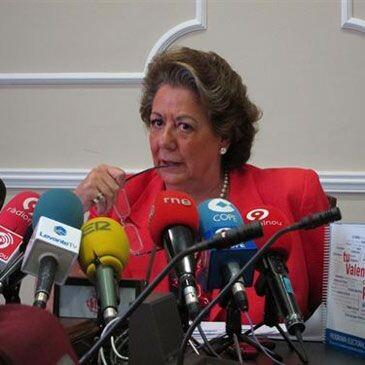 La alcaldesa en una anterior comparecencia pública/ayto vlc