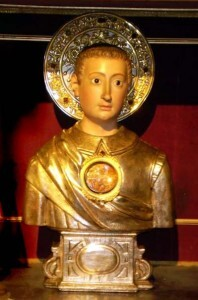 Busto de San Mauro que se venera en El Patriarca/fiestassancristóbal