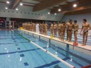 Los jugadores del  C.D. Waterpolo Turia