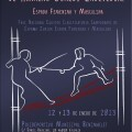 Cartel oficial de la competición de esgrima que se celebra en Benimaclet