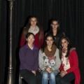 Las cinco gimnastas y artistas valencianas en la pista del circo de la Plaza de Toros/isaac ferrera
