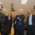 El embajador israeli, a la derecha, con los responsables de la empresa y el conseller Buch/isaac ferrera