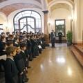 El arzobispo habla a los componentes de la Escolanía en la recepción de 2011/archivalencia