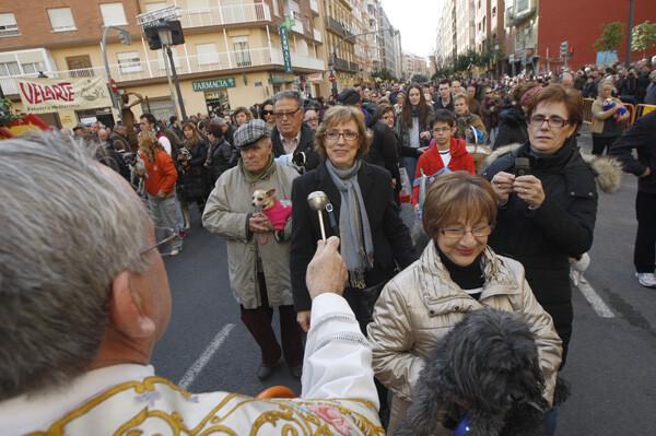 Sant Antoni la tradicional bendición de animales en Valencia