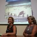 La concejala Bernal en una rueda de prensa con la responsable de Playas/vlcciudad