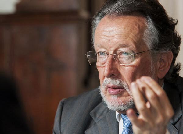 Alfonso Grau, en un momento de la entrevista con Paco Varea.