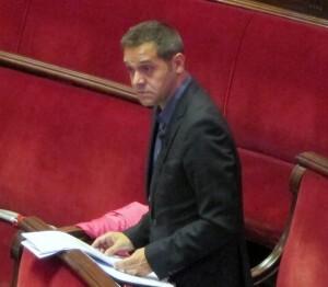 El portavoz de EU en el ayuntamiento, Amadeu Sanchis, en un pleno del consistorio valenciano/eupv