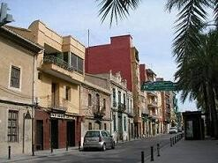 Calle principal de la pedanía de Castellar