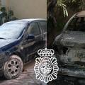 Dos vehículos quemados
