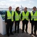 Los representantes de todas las instituciones implicadas acudieron al Puerto.