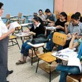 docentes en clase