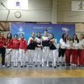 Podium de la prueba por equipos femeninos del torneo nacional de esgrima M20/fecv
