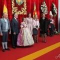 La Fallera Mayor Infantil, Carla González, desveló el color de su traje que vió todo el mundo al entrar en el Palau/armando romero