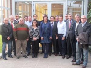Varios presidentes de federaciones pertenecients a Confedecom con la presidenta Catala en diciembre