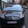 Un vehículo de la Policía Nacional en una calle de una ciudad