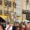 La Procesión de San Vicente Mártir a su paso por la Plaza de la Reina