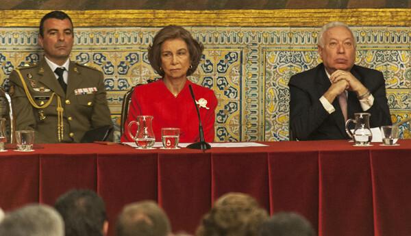 Su Majestad la Reina Doña Sofía en un momento del acto celebrado en la Generalitat/Isaac Ferrera