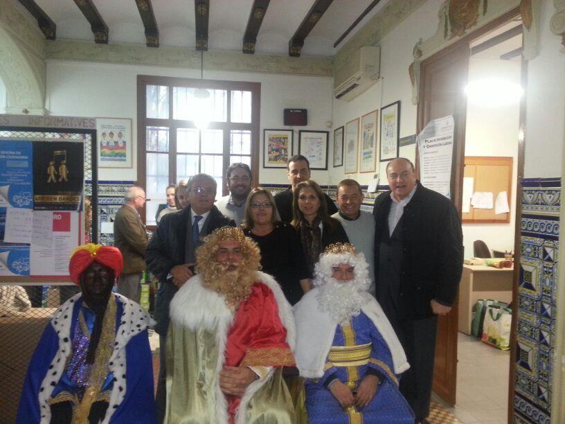 Los Reyes Magos en la Junta de Exposición/agrup. socialista