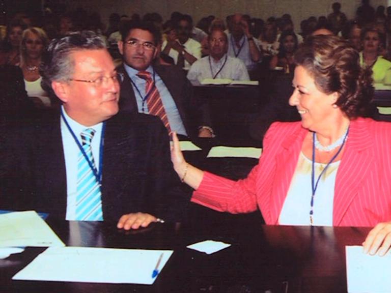 Senent con la alcaldesa de Valencia, Rita Barberá en un acto del PP/vlcciudad