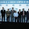 Los responsables del mundo del deporte valenciano, de la Vela y de la Candidatura de Madrid 2020/ayto vlc