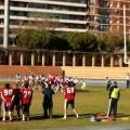 Un momento del derby en la campo del tramo III del Jardín del Turia/@valenciagiants