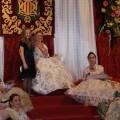 La Fallera Mayor en su trono el día de la exaltación/Les Arts