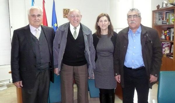 Reunión de Pilar Albert con el Presidente de la Confederación U ni ón Democrática de Pensionistas y Jubilados de la Comunitat Valenciana