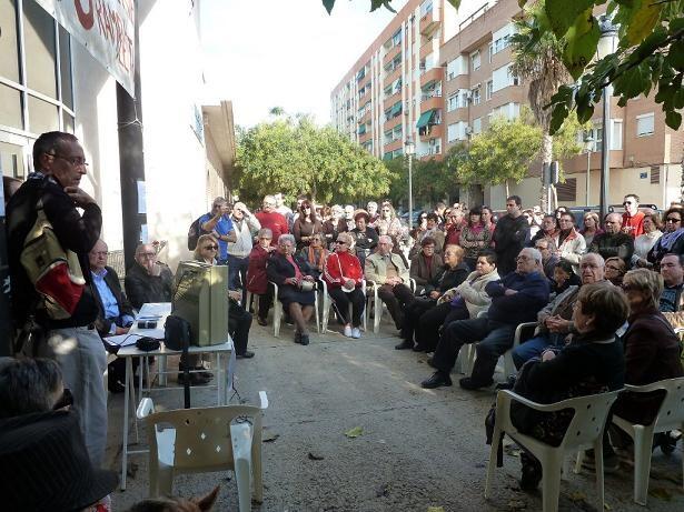 Asamblea de Vecinos para exigir la reapertura de La Rambleta celebrada en diciembre/aavv san marcelino