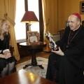 El Arzobispado de Valencia, Carlos Osoro, con la figura de San Vicente Ferrer/alberto saiz