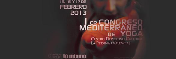 Cartel del congreso sobre  yoga del Mediterráneo