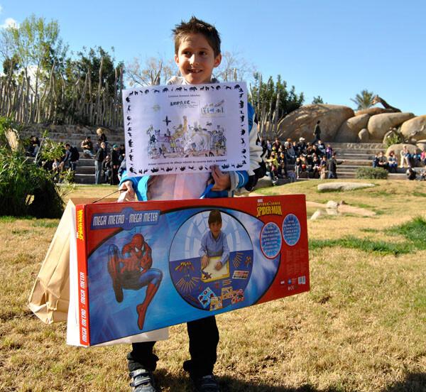 Bioparc Valencia - Cristian Romero, ganador del primer concurso de dibujo