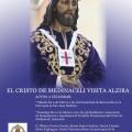 Cartel anunciador de la visita de la imagen de Jesús de Medinaceli del Grao de Valencia a Alzira que ha editado la JJCCHH/jjcchh alzira