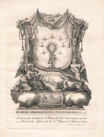 El trono del cielo, grabado del siglo XIX. Foto: Archivo privado de Rafael Solaz