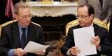 De izquierda a derecha, Eric Schmidt y François Hollande