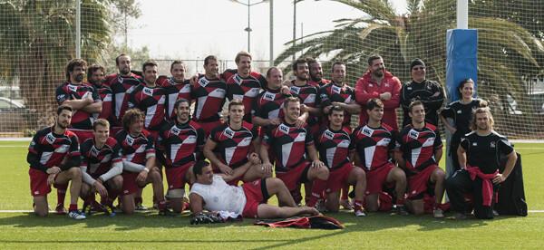 Los del CAU en la foto oficial del encuentro de hoy domingo/Isaac Ferrera