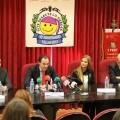 El conseller de Sanidad presidió la rueda de prensa con la Fallera Mayor de Valencia/controla club