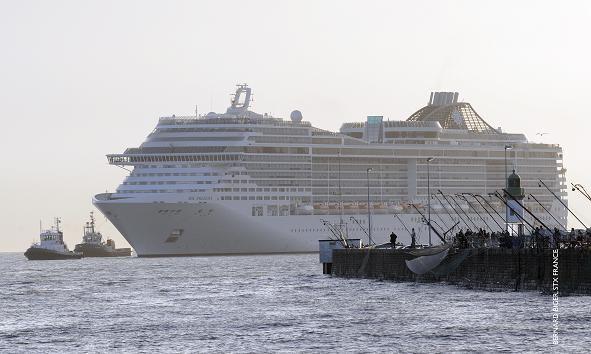 El MSC Preziosa en aguas francesas hace algo más de una semana/MSC Cruceros