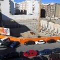 Vista aérea de la obras del polideportivo de Nou Moles/eu