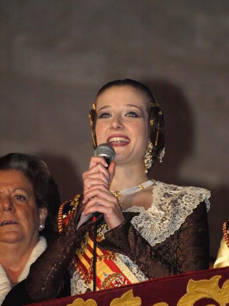 Begoña Jiménez en su discurso de la Crida 2013. Foto: Artur Part