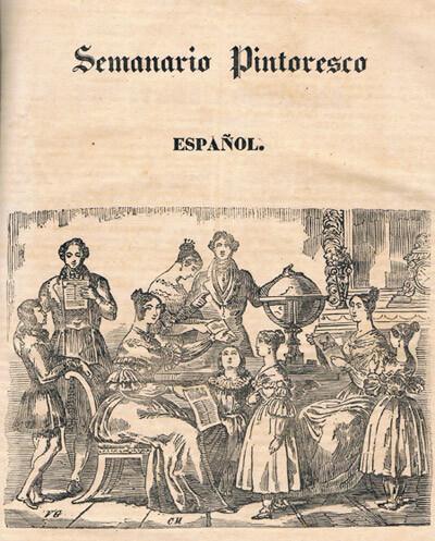 Portada del Semanario Pintoresco Español. Foto: Archivo privado de Rafael Solaz