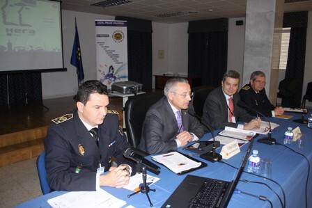 El concejal Miquel Domínguez preside una reunión del Proyecto Hera/policía local