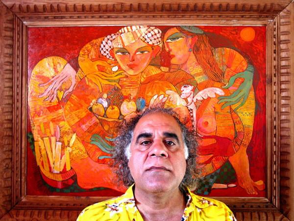 El artista Saad que inaugura la muestra está tarde/saad ali