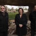 El vicealcalde, Grau; la alcaldesa Rita Barberá y el responsable de Rain Forest, Maldonado/ayto vlc