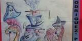 Boceto de la falla de Fray J. Rodríguez que se ha visto afectado por la marcha del artista/Nuestras Fallas.