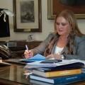 Carmen de Rosa en su despacho del Ateneo Mercantil/ateneo mercantil