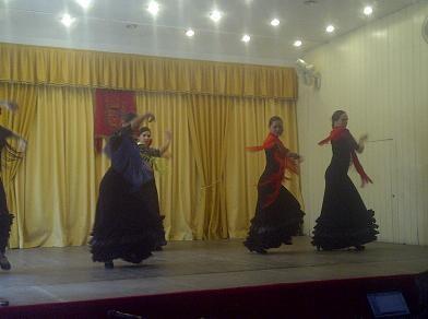 Grupo de baile de la Casa de Andalucia en el que figura la reina de la Federación de Casas Regionales/vlcciudad