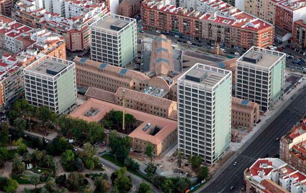 Vista aérea de la Ciutat Administrativa 9 d'octubre